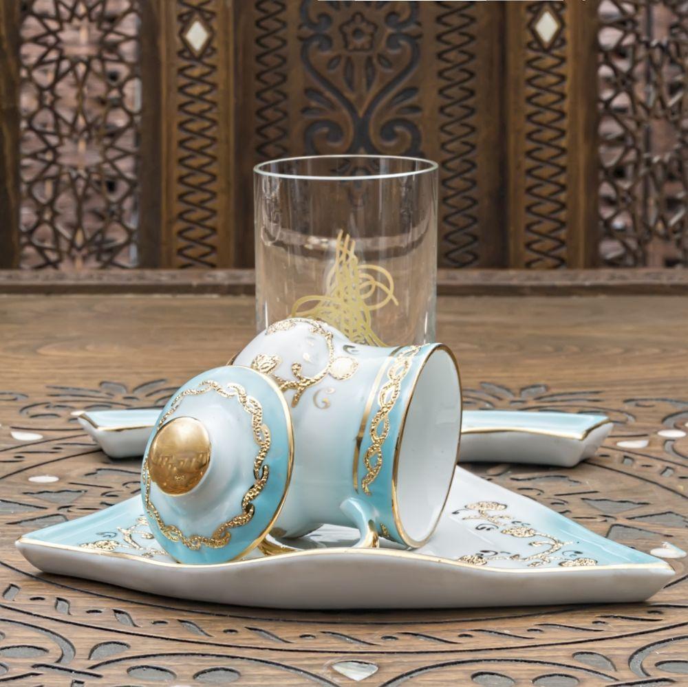 Ahşap Kutulu Porselen Kaftan Fincan ve Bardağı (Teklif İsteyiniz)