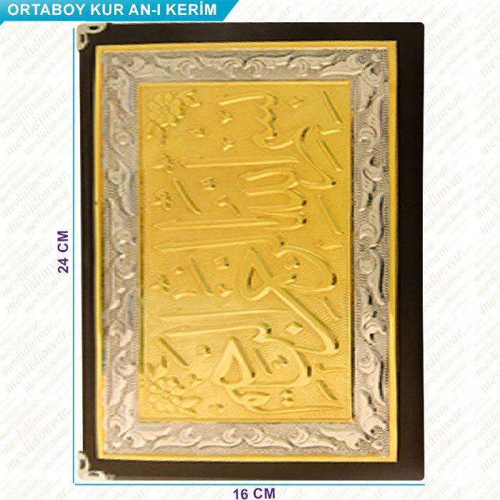 <span>Altın - Gümüş Kaplama Kuranı Kerim (Orta Boy)</span>