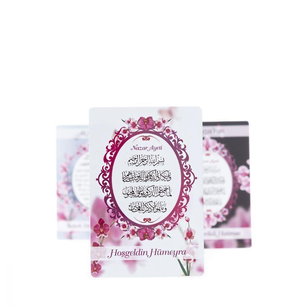 Yenidoğan Kız Bebek Hediyesi Mevlüt paketi (Çikolata - Orkide Yasin Kitabı - Kokulu Tesbih 50 Adet)