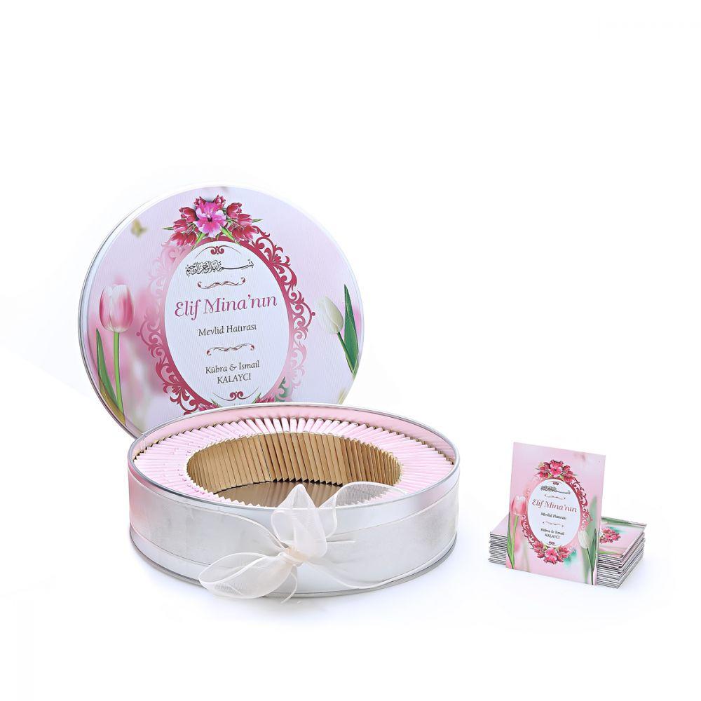 <span>Hoşgeldin Kız Bebek Hediyesi Mevlüt Paketi 121 (Çikolata - Magnet 100 Adet )</span>