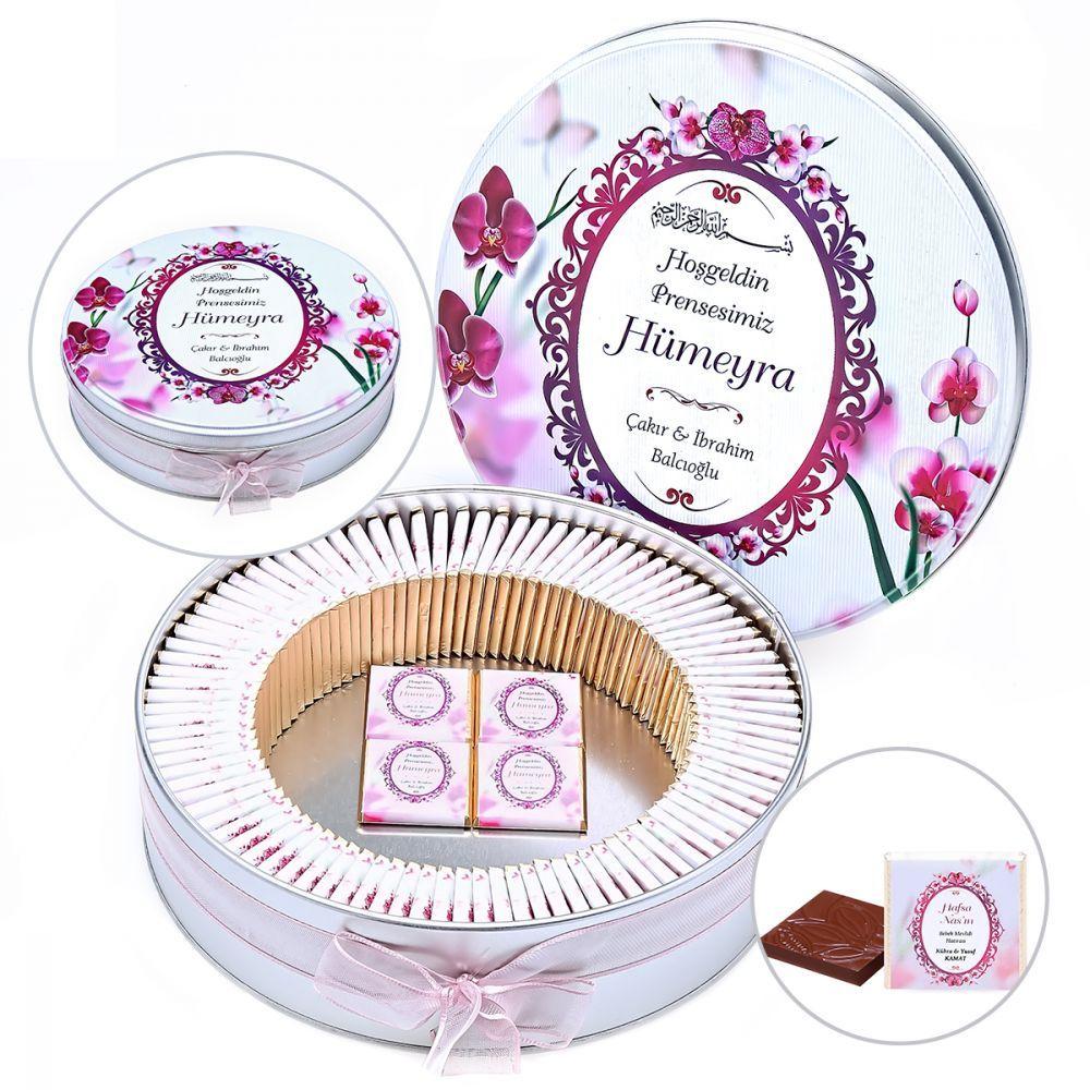 <span>Hoşgeldin Kız Bebek Hediyesi 123 (Çikolata - Orkide Yasin Kitabı - Kokulu Tesbih 100 Adet )</span>