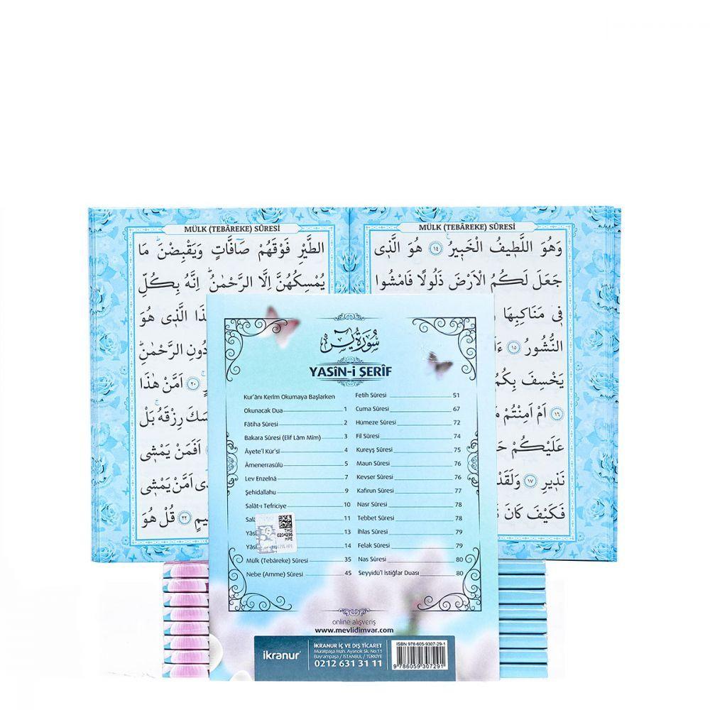 Hoşgeldin Erkek Bebek Hediyesi-Kardelen Paketi (Çikolata - Kardelen Mavi Yasin Kitabı 50 Adet)