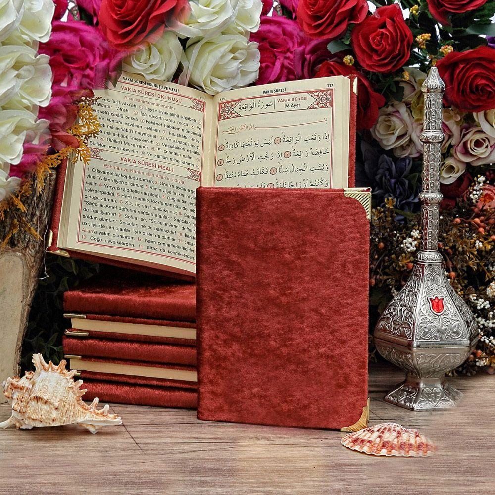 <span>Çanta Boy Kadife Kaplı Yasin Kitabı 128 Sayfa Bordo</span>