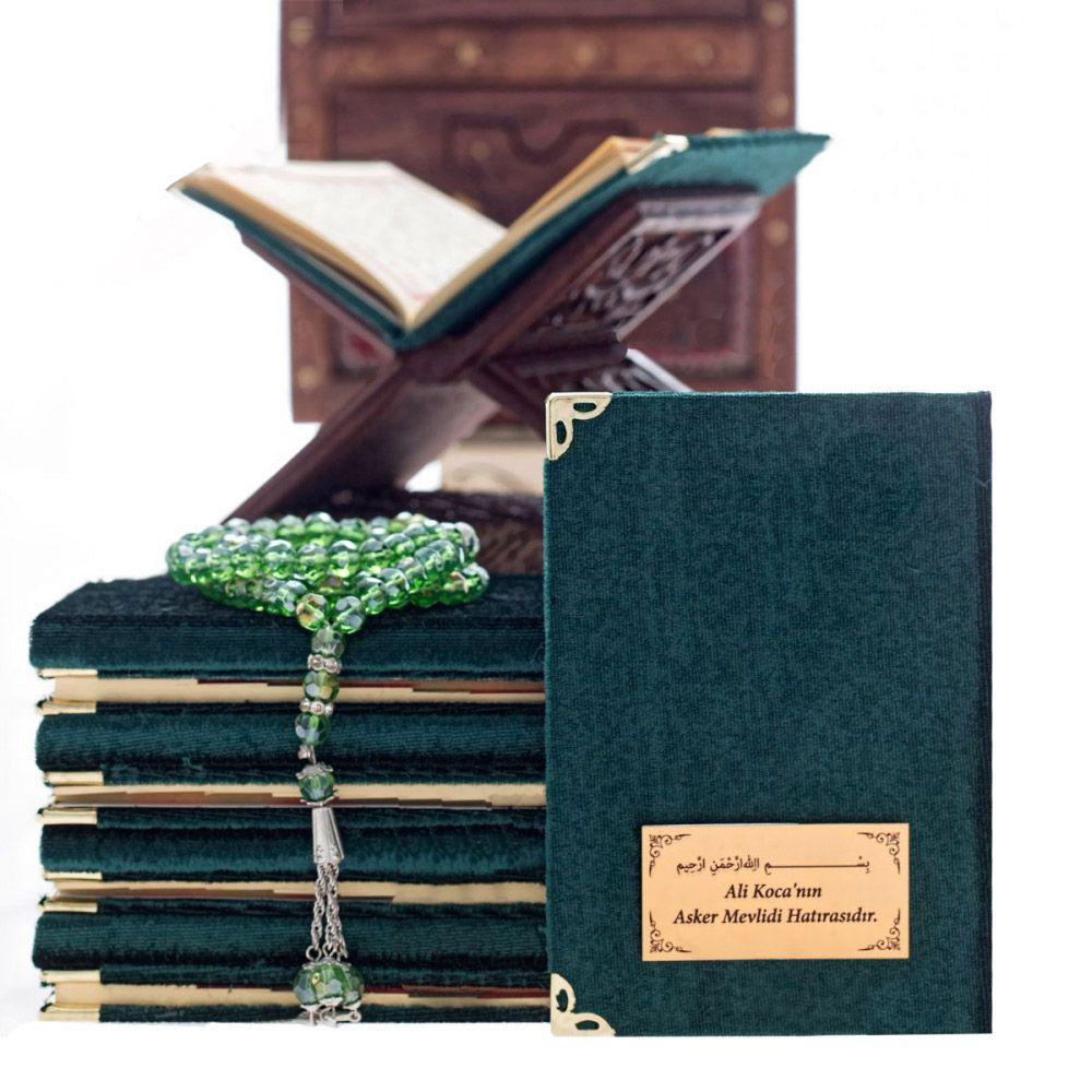 <span>Cep Boy 128 Sayfa İsim Baskılı Kadife Kaplı Yasin Kitabı Yeşil</span>