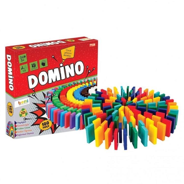 Domino 100 Parça Renkli