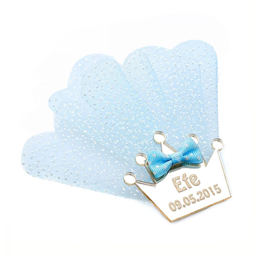 <span>Erkek Bebek Mavi Süslü Magnet</span>