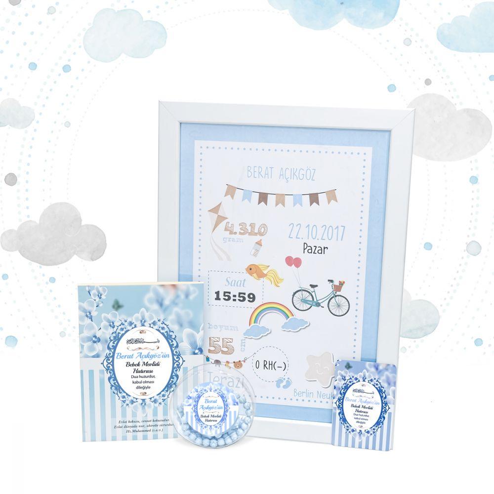 Erkek Bebek Panolu Paket (30 Adet)