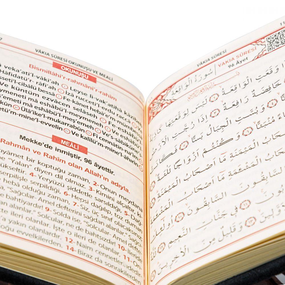 <span>Kadife Kaplı Yasin Cüzü Çanta Boy 128 Sayfa Allah Lafızlı Mor</span>