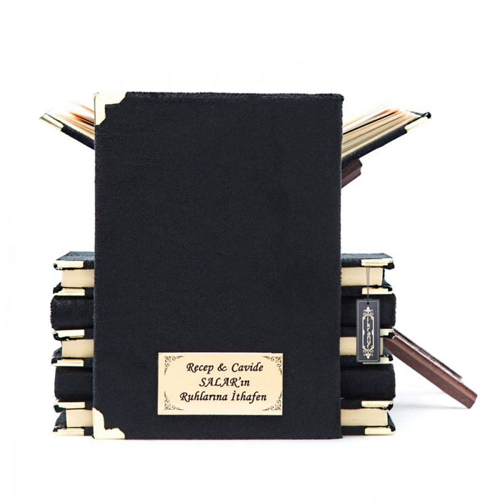 <span>Kadife Kaplı Yasin Kitabı Çanta Boy 128 Sayfa İsim Baskılı Siyah</span>