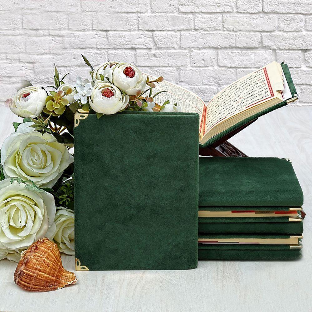 <span>Kadife Kaplı Yasin kitabı Çanta Boy 128 Sayfa, Yeşil</span>