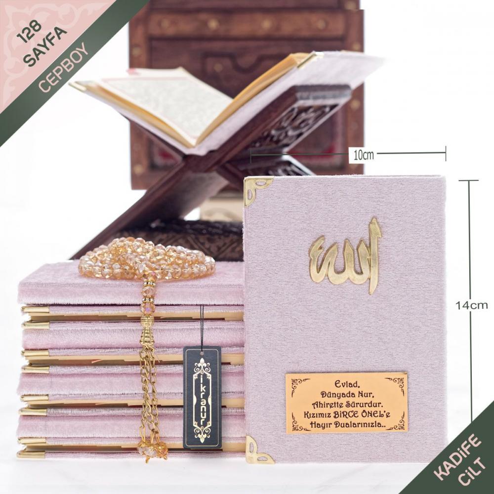 <span>Kadife Kaplı Yasin Kitabı Pembe (Allah Lafızlı ve İsim Baskılı)</span>
