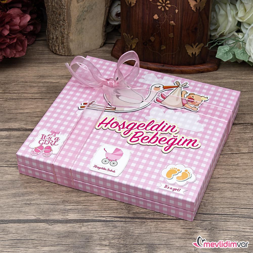 <span>Kız Bebek Çikolatası Standart Tasarım - ( Hoşgeldin Bebek )</span>