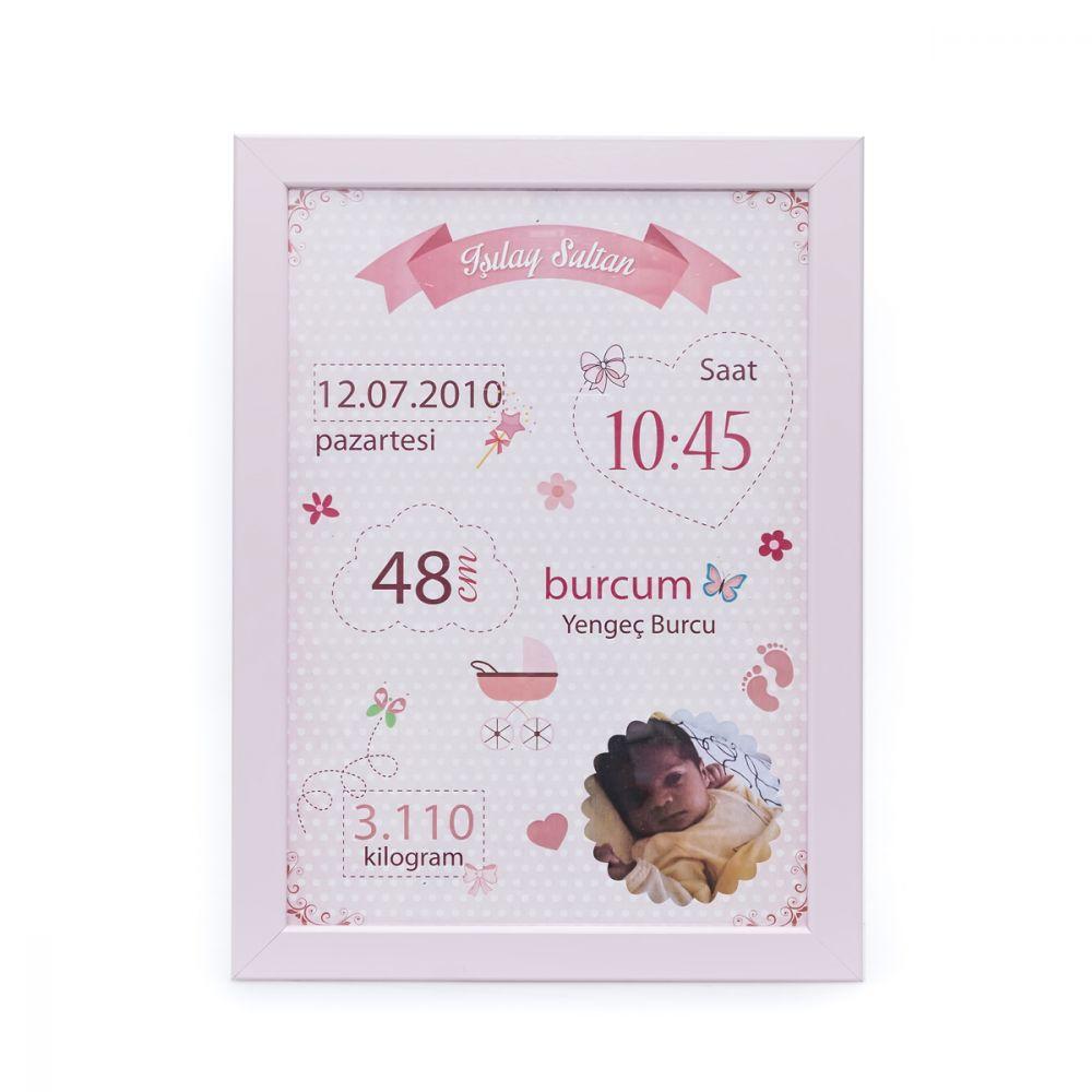 <span>Kız Bebek Doğum Panosu Pembe</span>