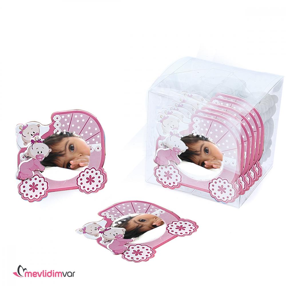 Kız Bebek Mıknatıslı Magnet Resimli