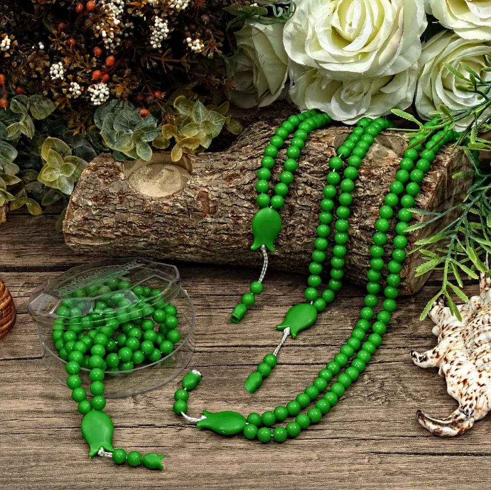 <span>Kokulu Tesbih Yeşil (Lale İşlemeli)</span>
