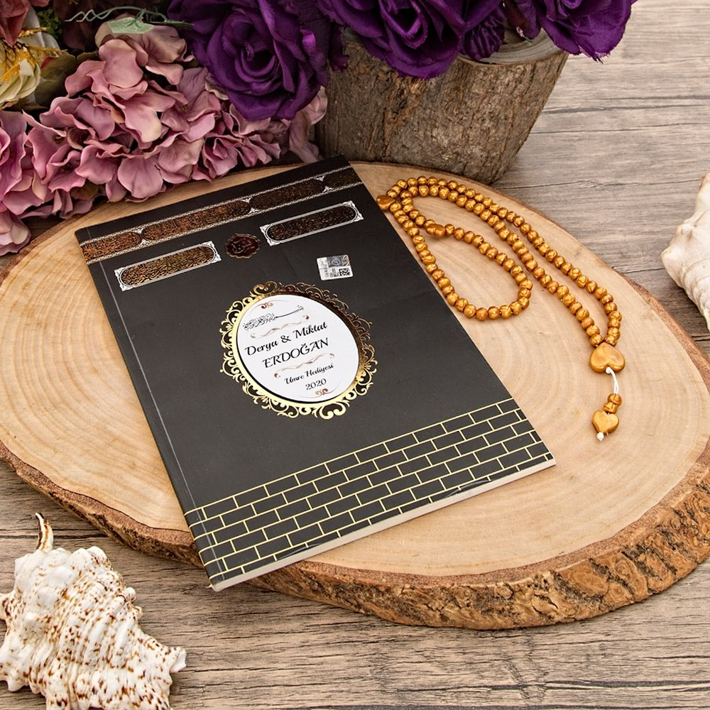 <span>Lüks Kapak Hac - Umre Yasin Kitabı - Kokulu Tesbih - Kurdela Süslemeli Asetat Kutu</span>