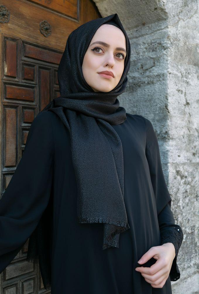 <span>Siyah Simli Şal</span>
