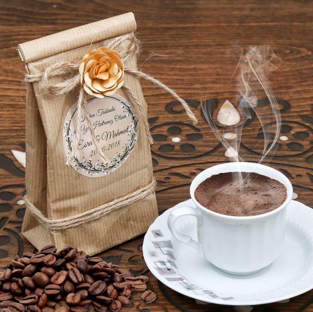 İsme Özel 40 Yıl Hatırası Var Kahvesi Özel Ambalajlı