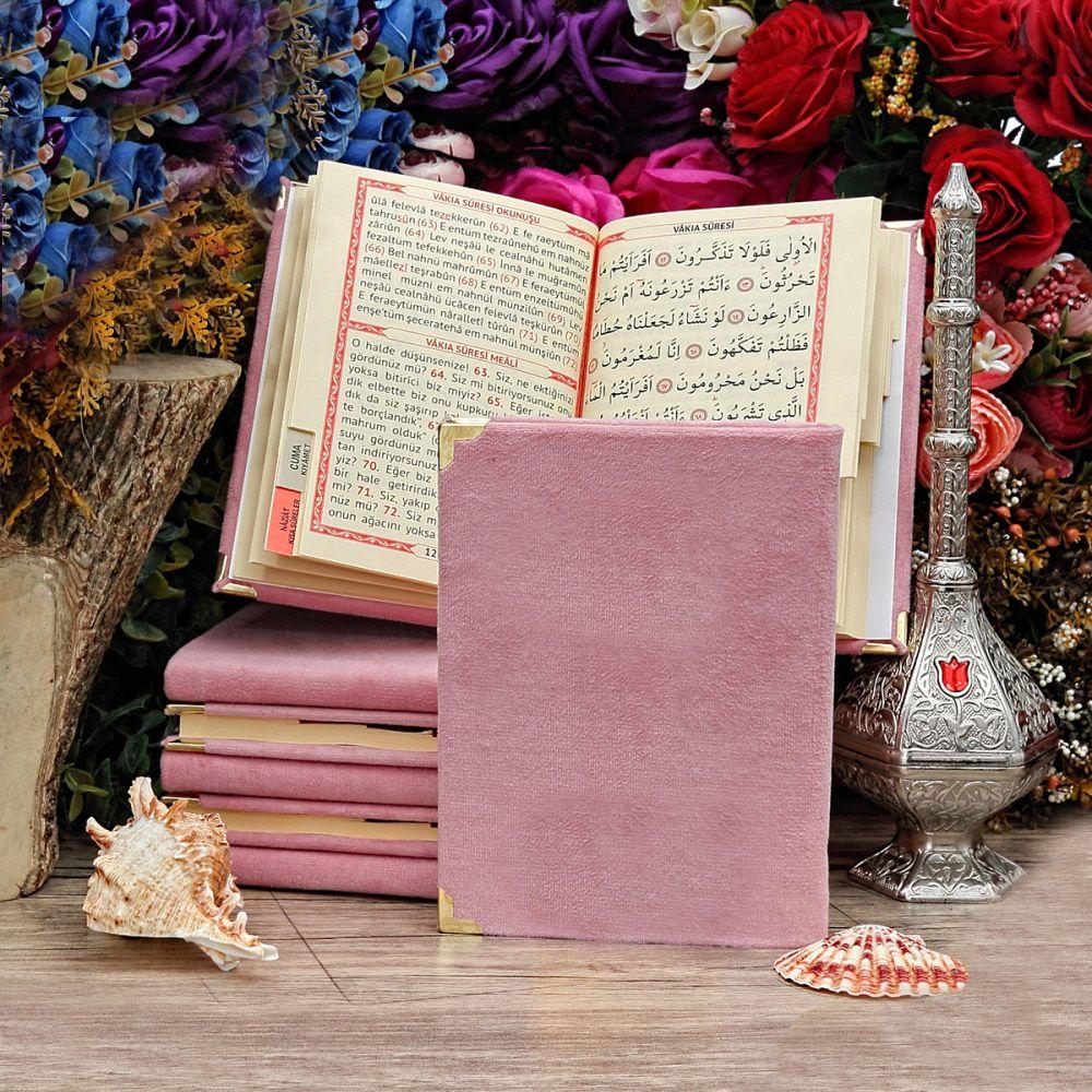 <span>Yasin Kitabı Kadife Kaplı Çanta Boy 128 Sayfa Bebek Pembesi</span>