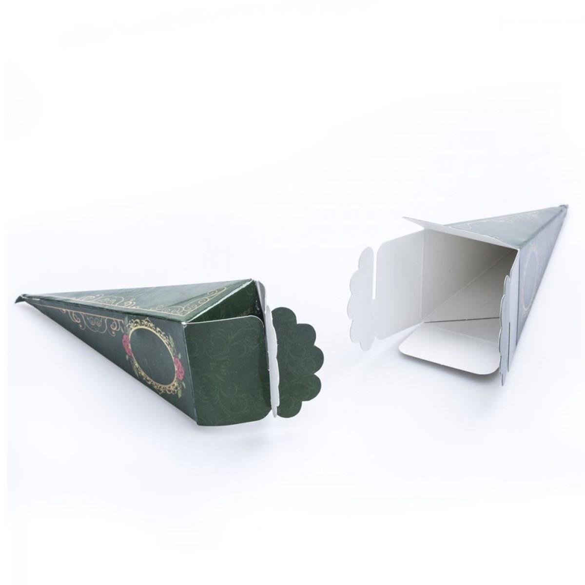 Yeşil Mevlüt Şekeri Kutusu - Külah